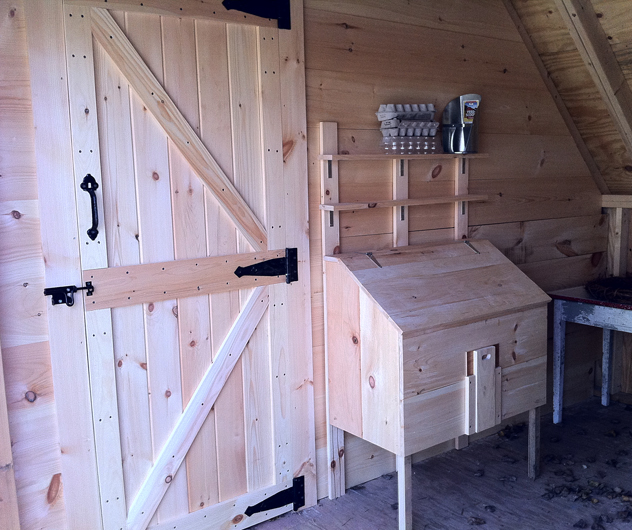 Chicken coop and garden shed rooting for ideas for Chicken coop interior designs