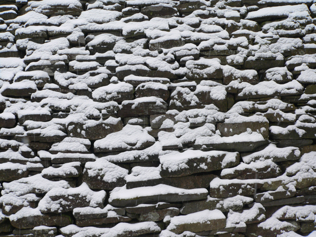 snow on wall