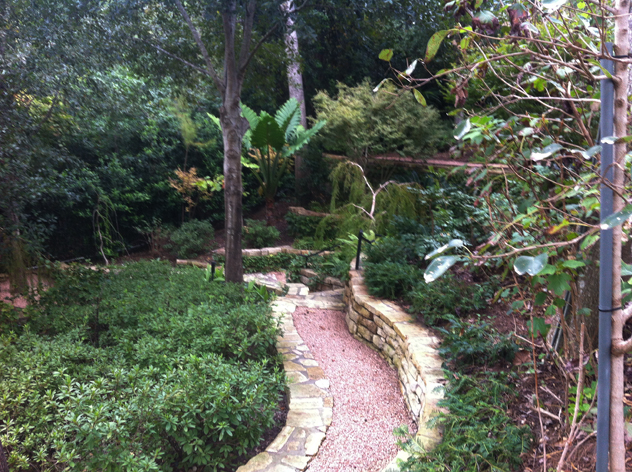 Johnny Steele: Garden laid built into steep slope.