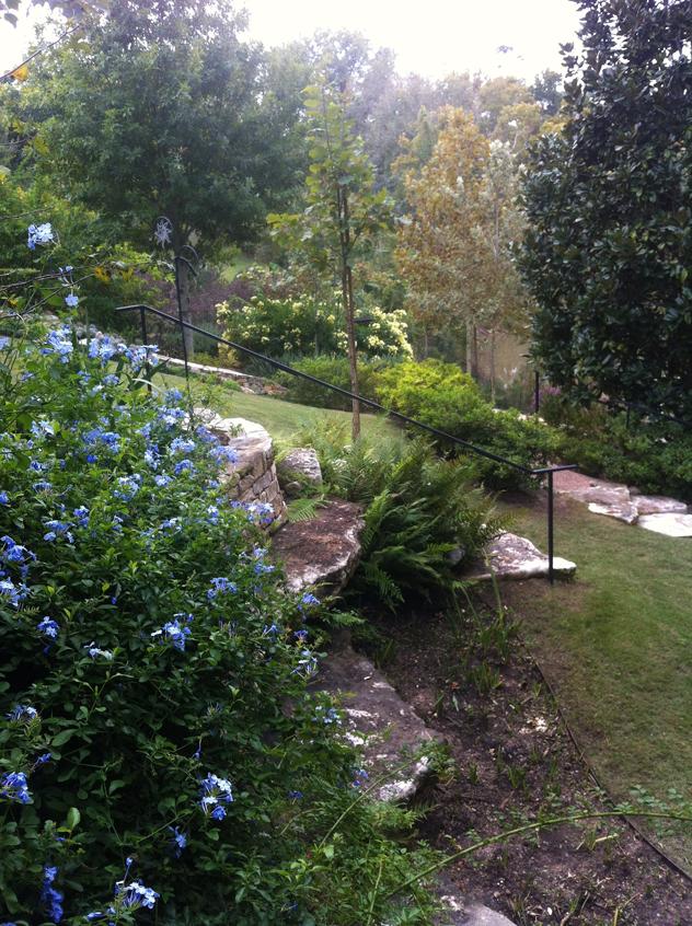 Johnny Steele, Terraced garden overlooking Buffalo Bayou