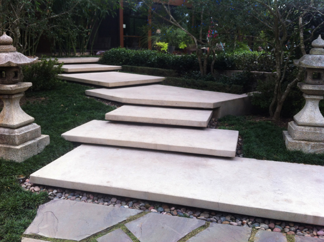 Landscape Concrete Slabs : Private garden houston rooting for ideas