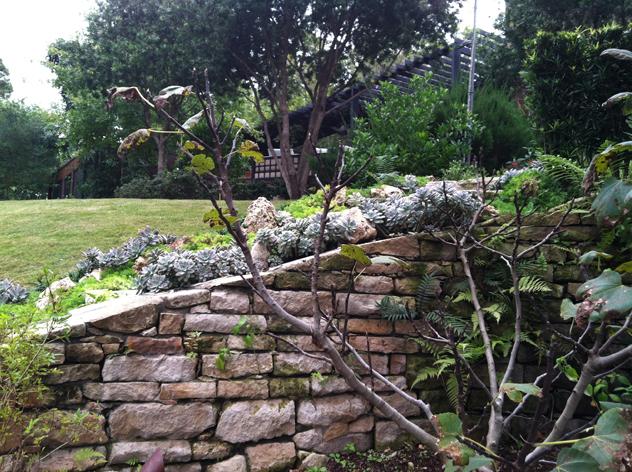 stone wall Johnny Steele garden