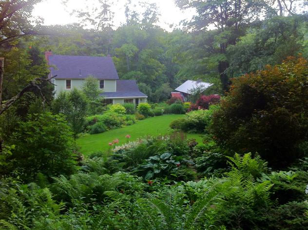 """Mermer Blakeslee's """"borrowed adjacent view"""" of house."""