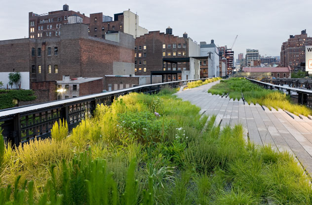 1.Chelsea Grasslands, between West 19th Street and West 20th Street, looking North - photo must be credited to Iwan Baan © 2009