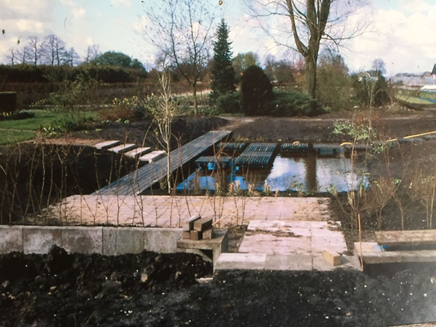 Photo of Gardner's garden being laid out